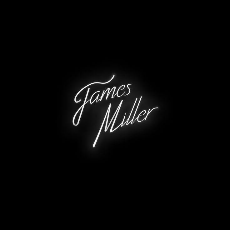 Logo pour James Miller [DJ] Blanc sur noir