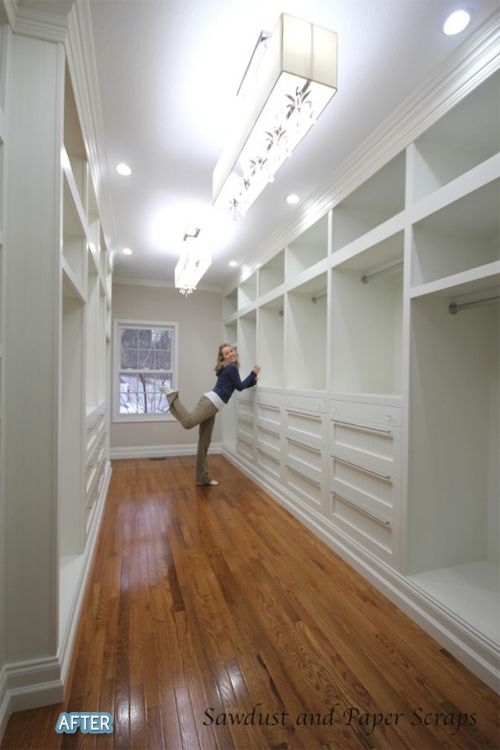 Um, who wouldn't LOVE having this closet? AH-MAZE-ING!!!! She did this herself....kuddos girl :)