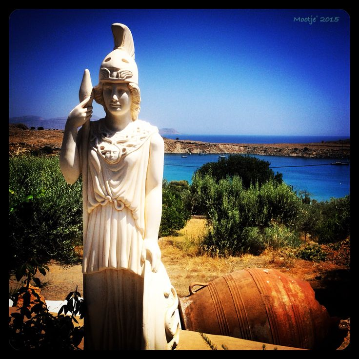 Lindos Rhodos statue