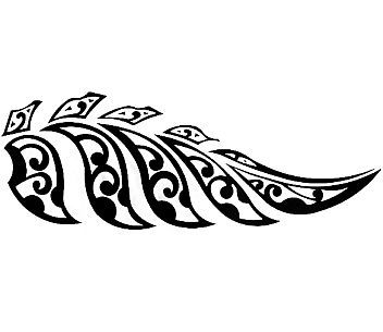 Fern maori tattoo new zaeland