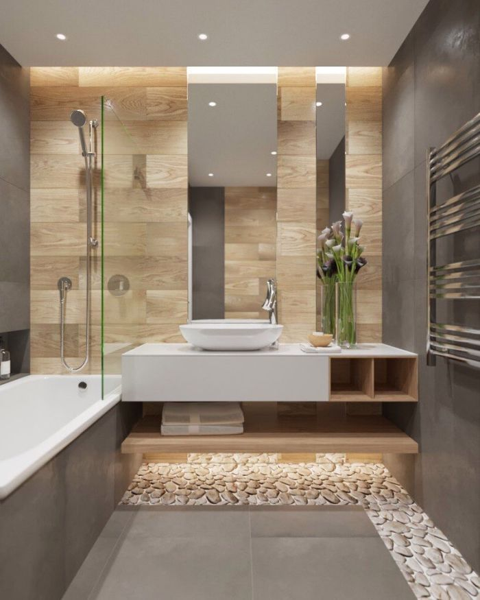 Pequeno Bano Decorado Con Un Gran Espejo Excepcional Bano Decora Welcome To Blog In 2020 Minimalist Bathroom Lavatory Design Bathroom Interior Design