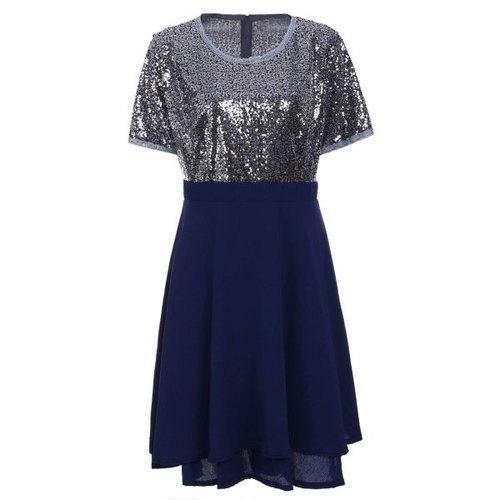 Plus Size Sequin Sparkly Skater Dresses