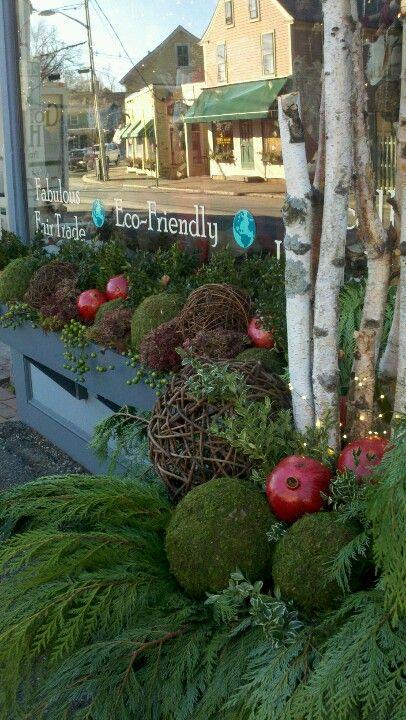 Winter storefront planter