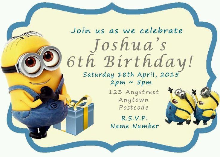 The 25 best Minion invitation ideas on Pinterest Minion party
