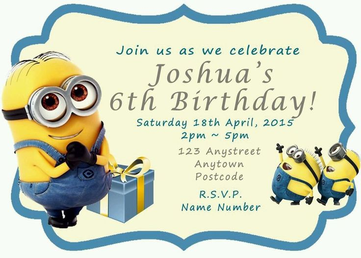 11 Best images about Personalised MAGNETIC Party Invitations on