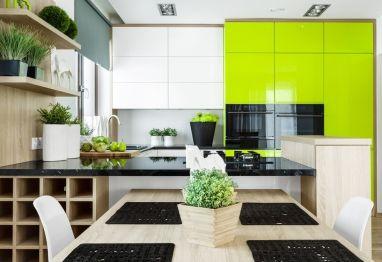 A co powiecie na ożywienie kuchni? W naszych rozwiązaniach znajdziecie stylowe limonkowe #meble #kuchenne! http://www.vigomeble.pl/