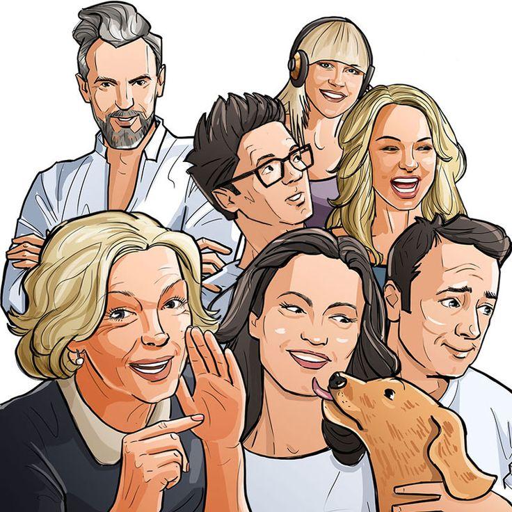 illustration celebrities