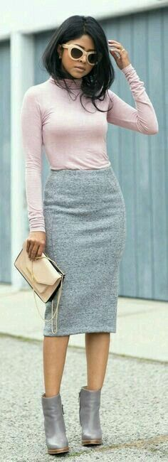 Falda recta jersey