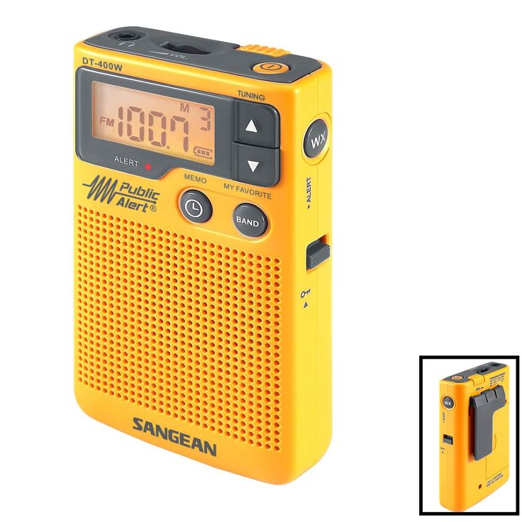 Sangean AM/FM Digital Weather Alert Pocket Radio #DT-400W
