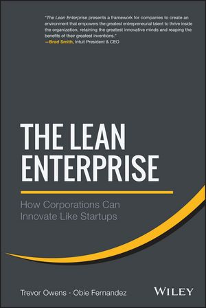 At the heart of this resource is a comprehensive, practical approach based on methods, timetables, compensation, financial investment, and case studies that reveal the startup mentality. Respected thought leaders in lean startup methodologies, the authors cover successful enterprise development, development innovation labs, corporate venture arms, and acquisition and integration of startups. Cote : 112.72 OWE  + Ebook