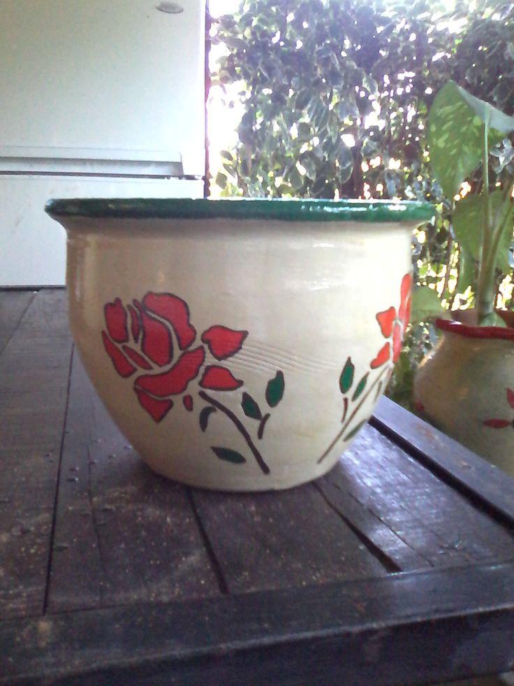 Maceta rosas