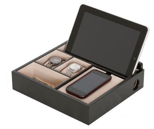 Mele Rory Wooden Charging Valet - Mens Jewelry Boxes at Hayneedle
