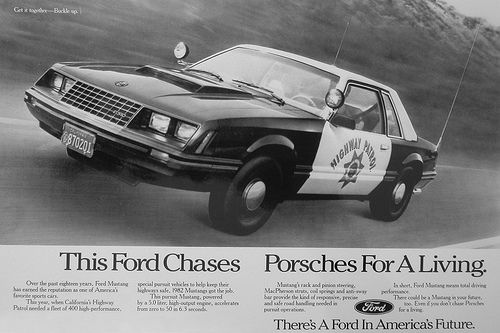 1982 Ford California Highway Patrol Special Service Mustang Ad