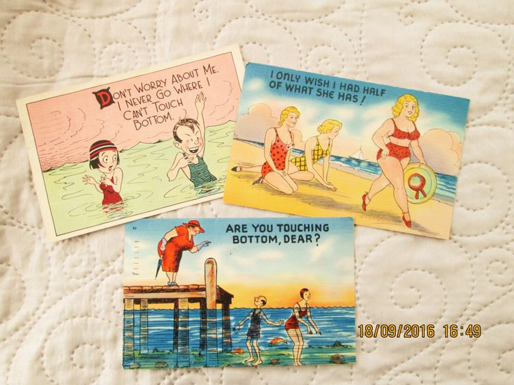 1930's American cards, postcards, vintage new jersey, jersey shore, 1930's kitsch, humorous postcards, beach humor, 30s jokes by BoutiqueBouBou on Etsy