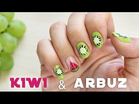 ♦ Paznokcie na lato - kiwi i arbuz ♦