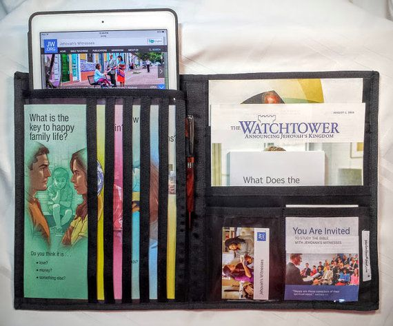 Tablet Service Organizer/Magazine Holder JW by pearlandjean