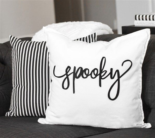 Spooky Pillow  The TomKat Studio  Halloween  Cricut DIY