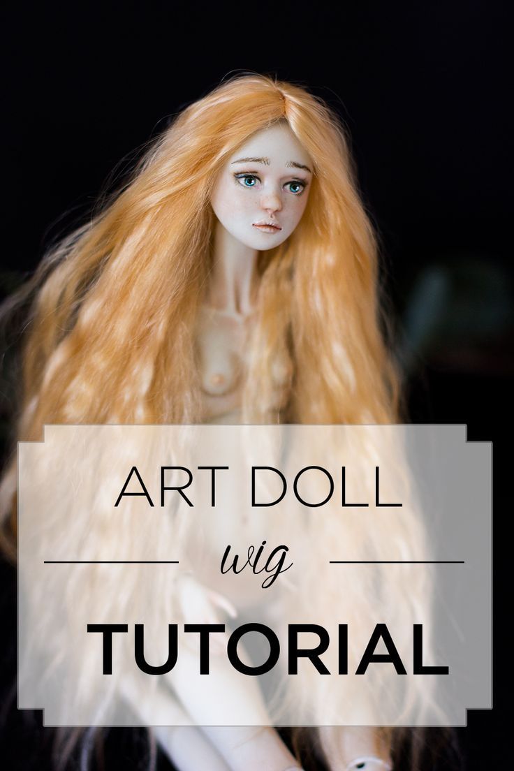 How to make a wig for a doll? by Adele Po.