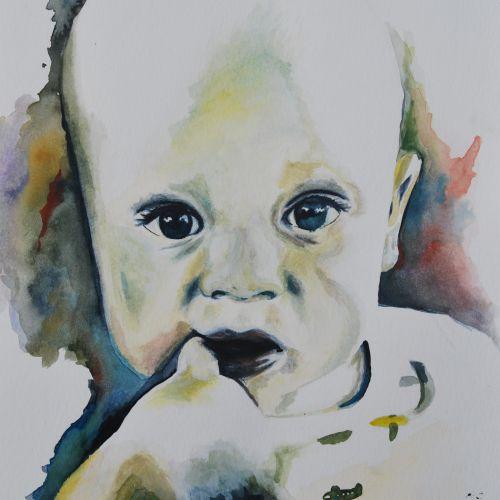 Uniek handgemaakt portret. Custom made portrait.