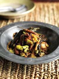 Broad beans and aubergine (Bangladesh)