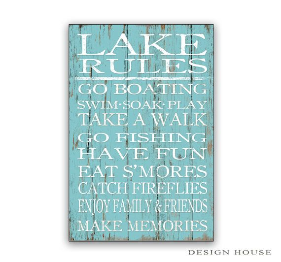 Hey, I found this really awesome Etsy listing at https://www.etsy.com/listing/228805122/lake-rules-sign-lake-rules-wooden-sign
