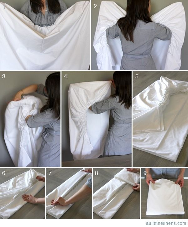 how fold a fitted sheet home garden trusper tip. Black Bedroom Furniture Sets. Home Design Ideas