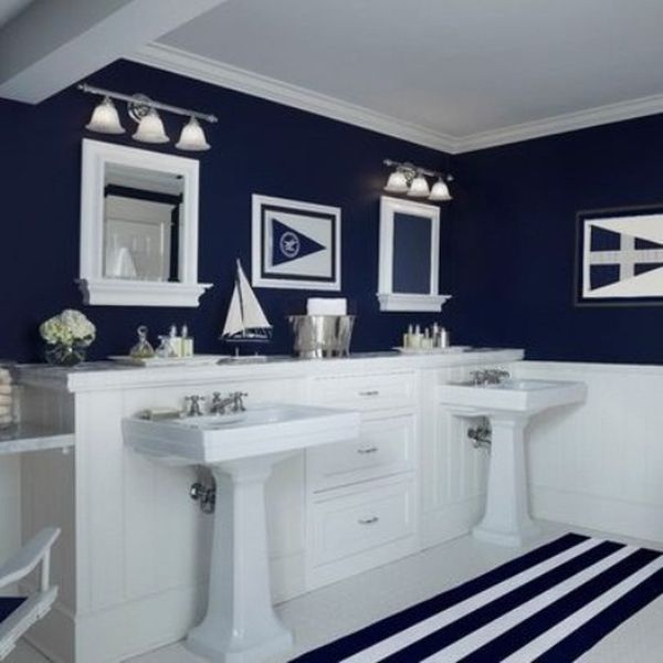 Love this nautical themed idea for a young boy's or teenage boy's bathroom...Tranquil Colors Inspired By The Sea – 11 Bathroom Designs