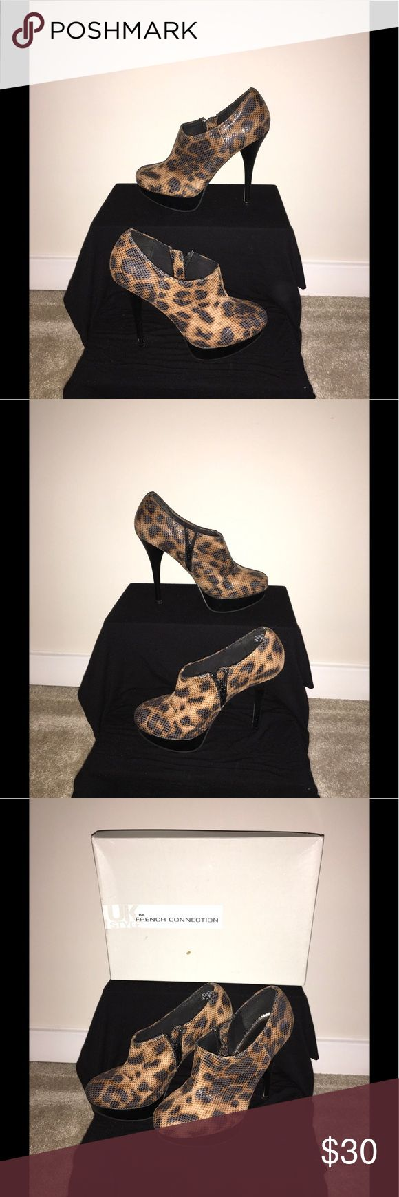 French Connection Booties Women's 7...... Please don't be fooled by the fakes on POSHMARK. All of our products are GUARANTEED 100% AUTHENTIC, so buy with CONFIDENCE....... CHECK OUT OUR OTHER ITEMS FOR SALE... French Connection Shoes Ankle Boots & Booties