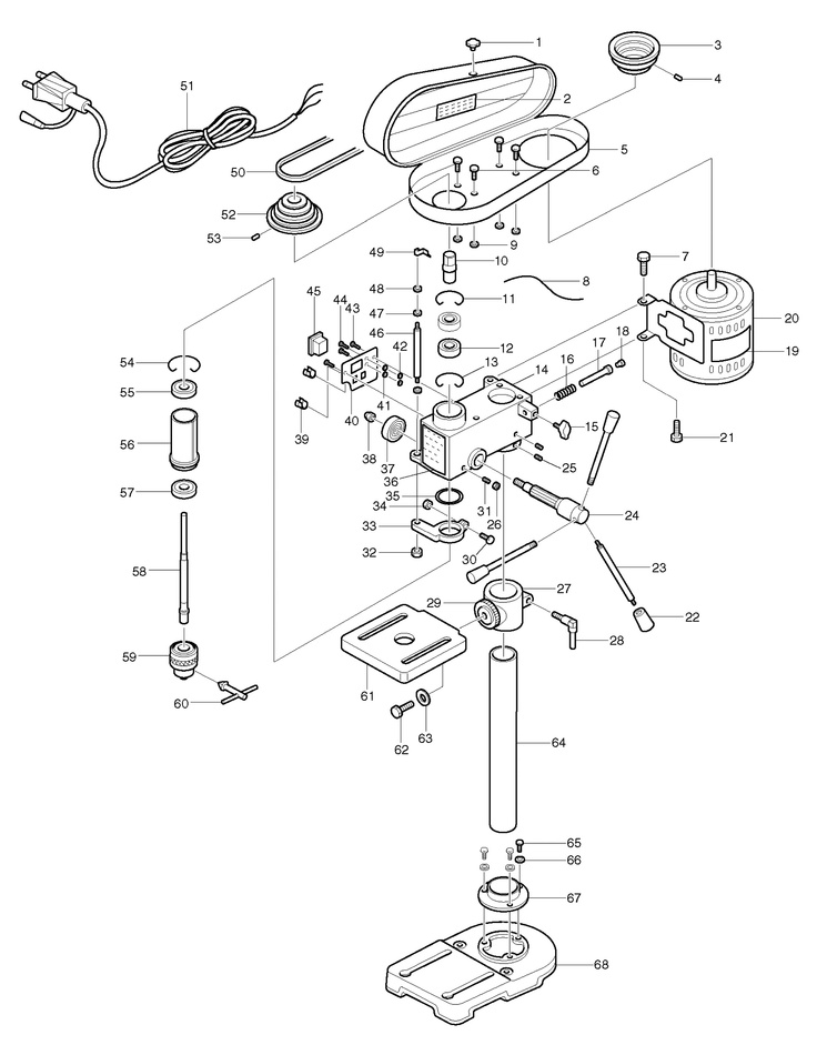 makita tb131 exploded view