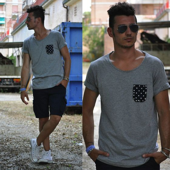 Living Clothes Tee, Xcape Bermuda, Converse Shoes, Candymi Bracelet