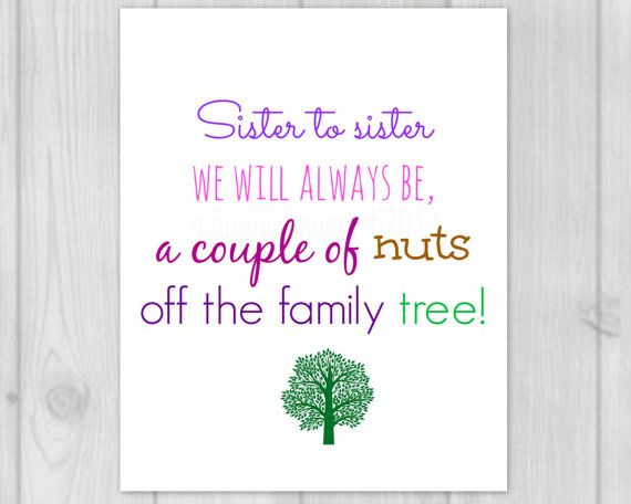 Sister Quote  Sister Gifts  Printable Art  by MadeByTheHearth, $4.50