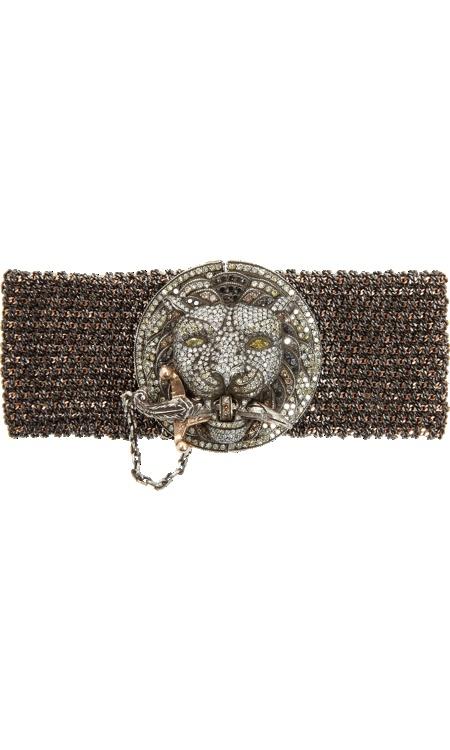 Sevan Bicakci Diamond Lion Mesh Bracelet