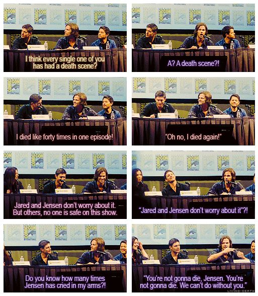 """""""It's okay, Jensen!"""" Thank goodness Jared's there to console everyone."""