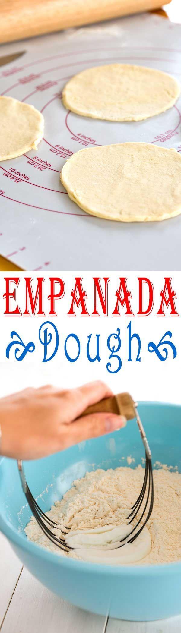 Make empanadas at home from scratch with this easy empanada dough recipe!