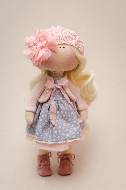 Madelyn Doll-Handmade Doll-Textile Doll-Fabric Doll-Rag Doll-Home Decoration-Handmade Toy