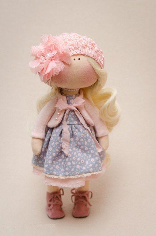 Madelyn Doll-Handmade Doll-Textile Doll-Fabric Doll-Rag Doll-Home Decoration-Handmade Toy