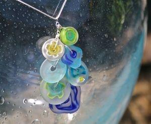 Moon Flowers -Chandelier Necklace.  New summer looks from Atlantic Art Glass.