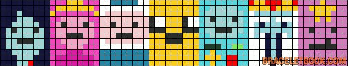 Adventure Time characters perler bead pattern by Blue22