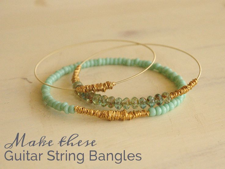 Bead It and Weep Pile of guitar string bangles t