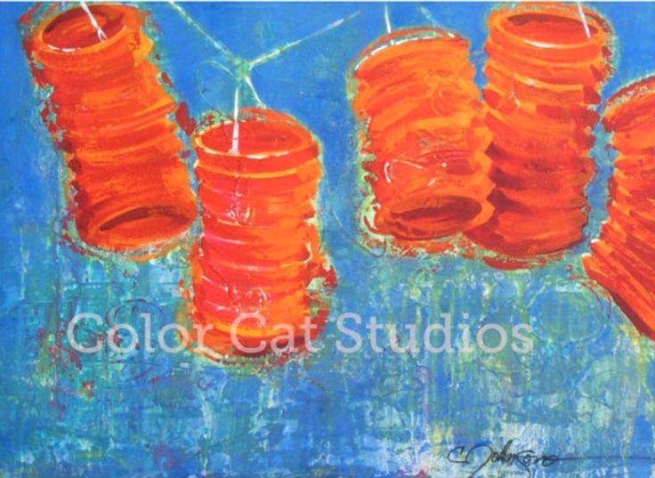 My #lanterns are in a show at the Woodlands Community Center, and for sale at colorcatstudios101.etsy.com #Chinese