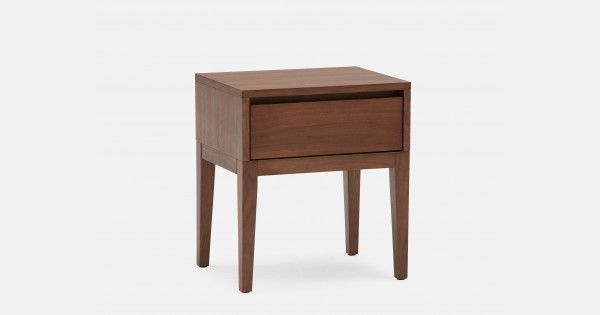 Structube Cino Walnut Veneer Bedside Table With Images Walnut