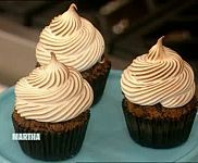 Chocolate Graham Cracker Cupcakes with Toasted Marshmallow Recipe & Video | Martha Stewart