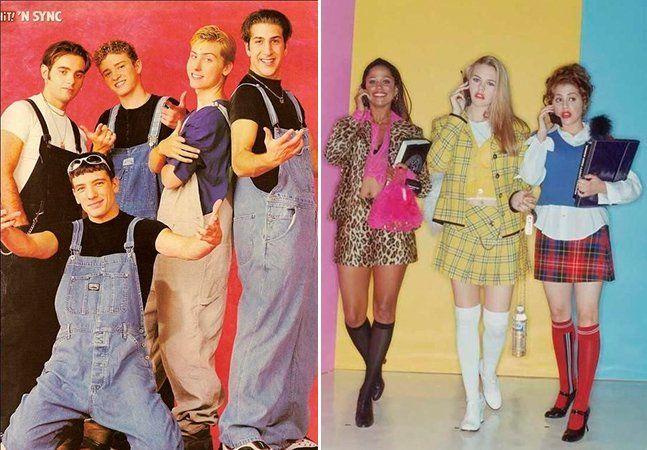 """Se você cresceu nos anos 1990, com certeza em algum momento foi """"vítima"""" das ombreiras, das calças baggy, das jardineiras ou ainda das roupas coloridas e extravagantes que, por algum motivo, acreditávamos ser interessante usar. Uma das principais influências para os jovens dessa época foram séries como Barrados no Baile e Friends, filmes como As Patricinhas de Beverly Hills e Uma Linda Mulher, ícones fashions como Winona Ryder e Kate Moss, e cantores e seus estilos musicais como Madonna…"""