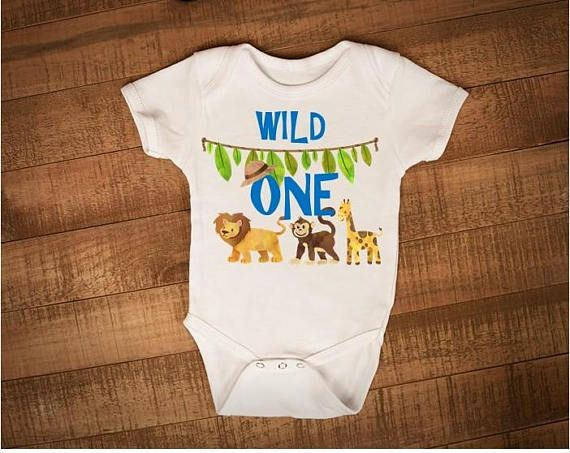 Check out this item in my Etsy shop https://www.etsy.com/ca/listing/538766941/wild-one-onesie-birthday-onesie-safari
