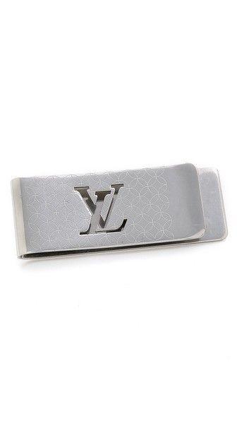 What Goes Around Comes Around Vintage Louis Vuitton Silver Monogram Money Clip