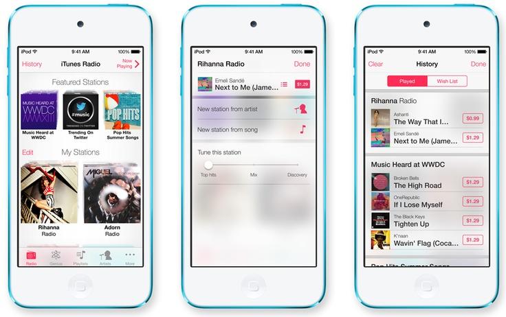 iOS 7 - iTunes Radio