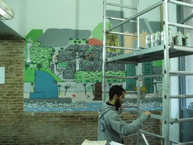 Mural Rentabike Barcelona
