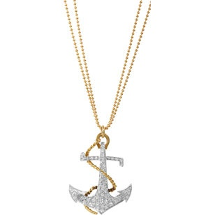 Diamond Anchor Pendant Necklace - when I make my first billion, I'll be sure to get this.