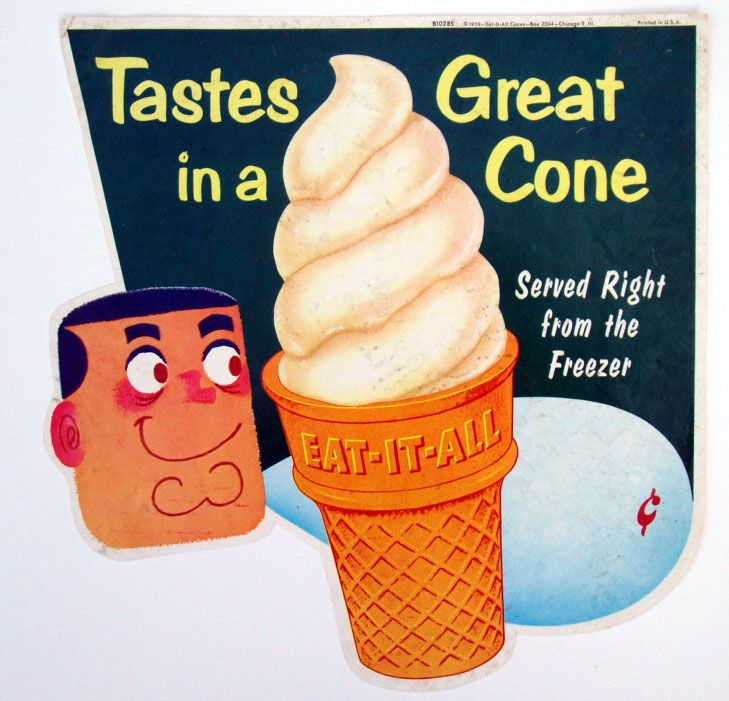 vintage 60's ice-cream advert