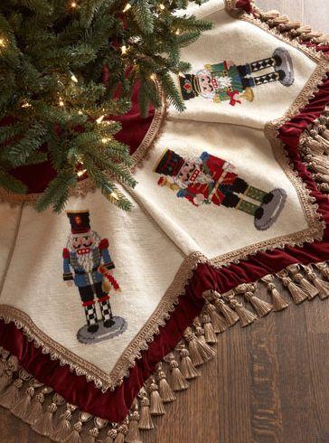 Beautiful Nutcrackers Tasseled Christmas Tree Skirt http://rstyle.me/~3bRwg